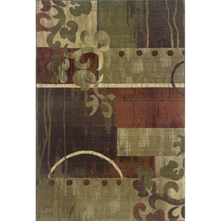 Generations Green/ Red Rug (7'10 X 11')