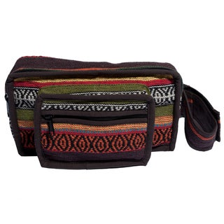 Oak Brown Cotton Knit Fannypack/Waist Bag (Nepal)
