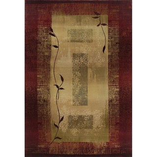 Generations Red/ Beige Accent Rug (2' x 3')