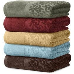Veratex Regency Damask Print 3-piece Towel Set