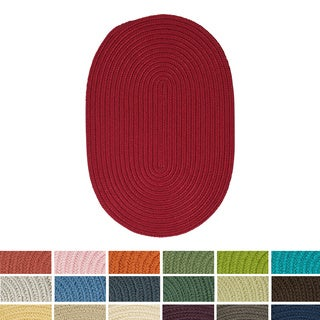 'Anywhere' Braided Outdoor Rug (2' x 3' Oval)