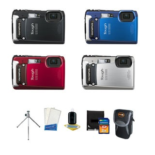 Olympus Tough TG-820 iHS 12MP Digital Camera with Deluxe Bonus Accessories Kit