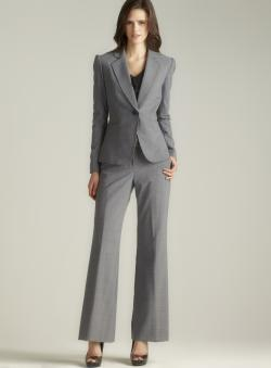 Tahari One Button Pant Suit
