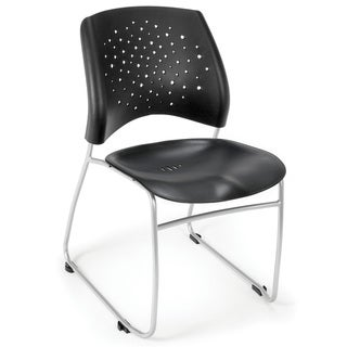 OFM Stars Series Plastic Stacking Chair (Pack of 4)