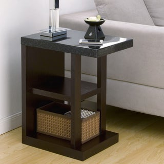 Furniture of America Drew Contemporary Faux Marble End Table