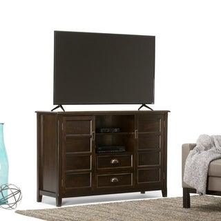 WYNDENHALL Portland Collection Espresso Brown Tall TV Stand