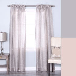 Lights Out Venice Sheer Damask Rod Pocket 84-inch Curtain Panel Pair