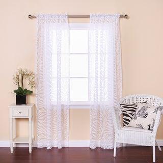 Aurora Home Zebra Burnout Sheer 84-inch Rod Pocket Curtain Pair