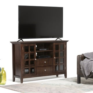 review detail WYNDENHALL Normandy Collection Tobacco Brown Tall TV Media Stand