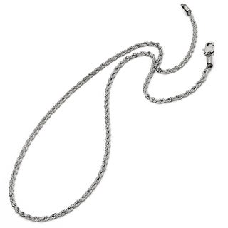 Oliveti Men's Stainless Steel Men's Rope Chain 22-24-inch (3mm)