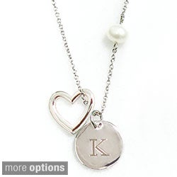 Cathy's Concepts 'A Special Gift For You' FW Pearl Heart Necklace (8 mm)