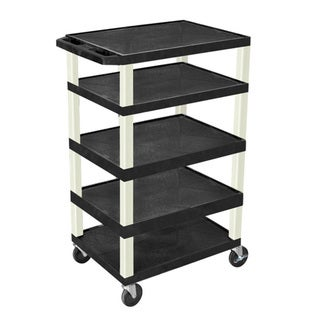 Offex Adjustable Rolling 3-shelf Tuffy AV Cart