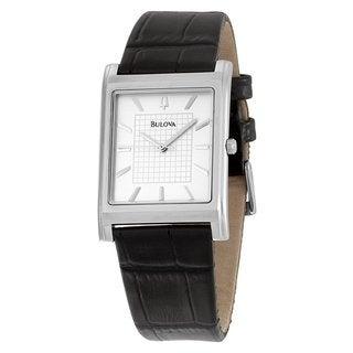Bulova Men's 96A23 Leather Strap Dress Watch