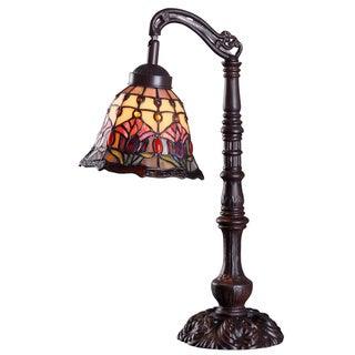 Flora 20-Inch Tiffany-Style Desk Lamp