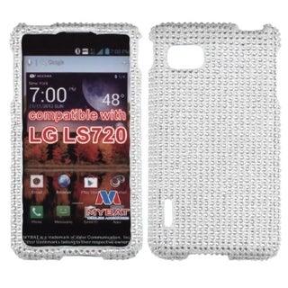 INSTEN Silver Diamante Phone Case Cover for LG LS720