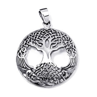 Sterling Silver Amazing Rare Celtic Tree of Life Pendant (Thailand)