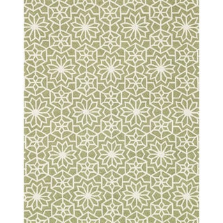 Hand Hooked Charlotte Green Rug (7'6 x 9'6)