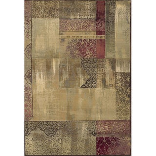 Generations Easy-care Green/ Beige Rug (5'3 x 7'6)