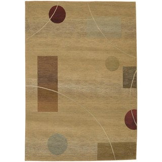 Generations Beige/ Red Rug (9'9 x 12'2)