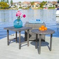 Christopher Knight Home Palmilla Grey Wicker Table Set