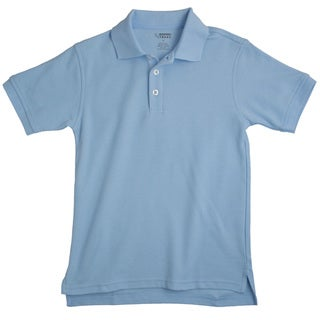 French Toast Children's Short Sleeve Pique Blue Polo Shirt