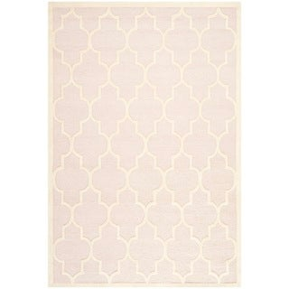 Safavieh Cambridge Light Pink/ Ivory Handmade Moroccan Wool Area Rug (9' x 12')