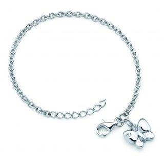 Little Diva Diamonds Silver Children's Diamond Accent Butterfly Bracelet