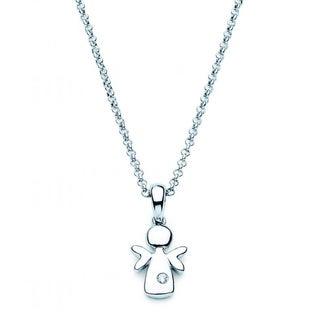 Little Diva Diamonds Sterling Silver Children's Angel Necklace