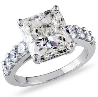 Shira Design 18k Gold 5 3/4ct TDW Ceritified Radiant-Cut Diamond Ring (H-I, VS2-SI1)