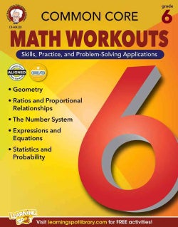 Common Core Math Workouts, Grade 6 (Paperback)