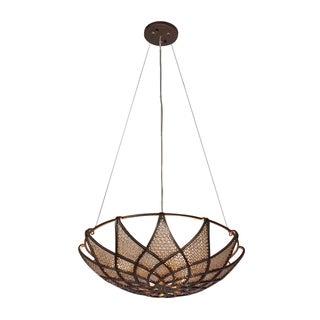 Varaluz Argyle 3-light New Bronze with Desert Pearl Pendant