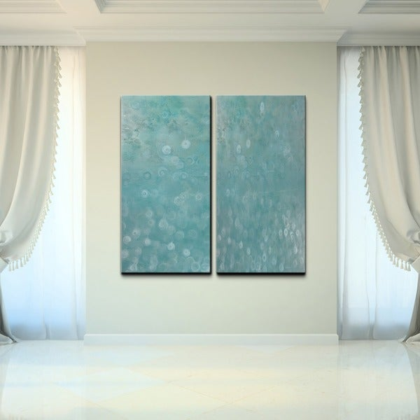 Alexis bueno 39 abstract spa 39 canvas wall art set of 2 for Abstract salon of the arts