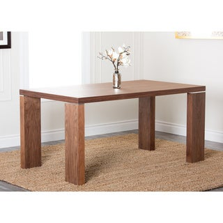ABBYSON LIVING Valerie Rectangle Walnut Dining Table