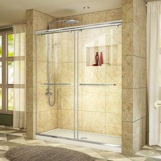 DreamLine Charisma Bypass Sliding Shower Door and 34x60-in Shower Base