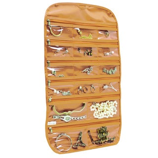 31 pocket hanging jewelry organizer Beige Gold, By Florida Brands