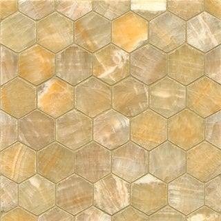 Sweet Honey Onyx Hexagon Mosaic Polished Tiles (Box of 10 Sheets)
