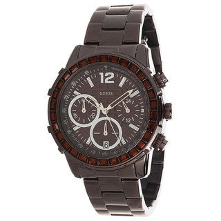 Guess Men's U0016L4 Brown Stainless-Steel Quartz Watch with Brown Dial