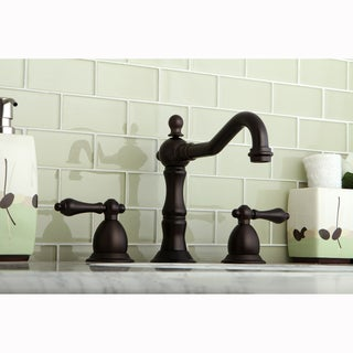 Victorian Oil Rubbed Bronze Widespread Bathroom Faucet