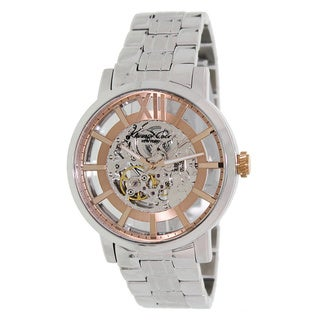Kenneth Cole Men's Automatic KC9210 Silver Stainless-Steel Automatic Watch with Silver Dial