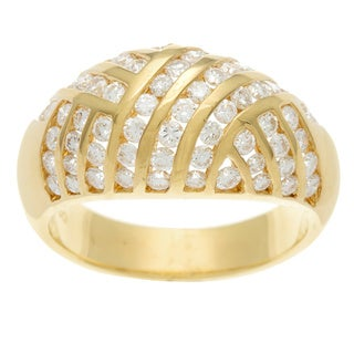Kabella Luxe 18k Yellow Gold Vintage 1 1/4ct TDW Diamond Channel Ring (H-I, SI1-SI2)