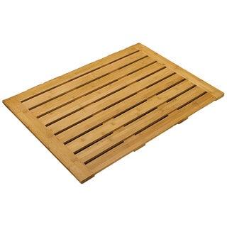 Seville Classics Bamboo Bathroom Floor Mat (28 in x 22 in)