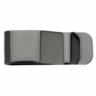 Black Ion-plated Stainless Steel Polished Money Clip