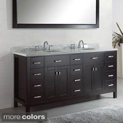 Virtu USA Caroline Parkway 72-inch Double Sink Bathroom Vanity Set