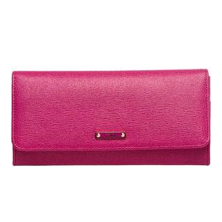 Fendi 'Elite' Pink Vitello Leather Continental Wallet