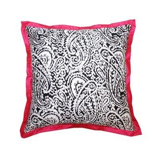 Lady Paisley Pink Decorative Pillow (India)
