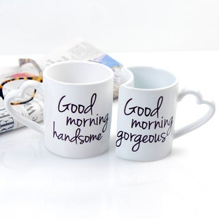 Cathy's Concepts Good Morning Coffee Mugs (Set of 2)
