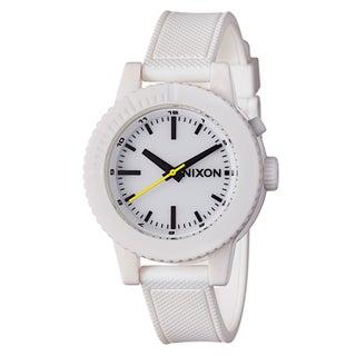 Nixon Women's A287100-00 'The Gogo' White Polycarbonate Night Light Watch