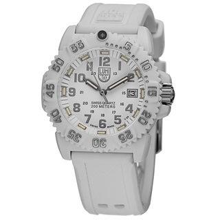 Luminox Women's A.7057.WO 'Colormark' White Dial White