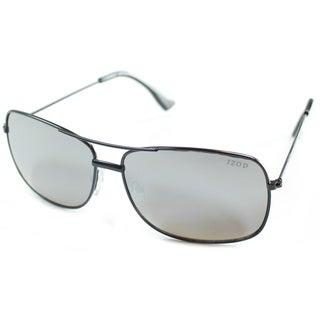 Izod Unisex IZ 352 10 Black Metal Aviator Sunglasses