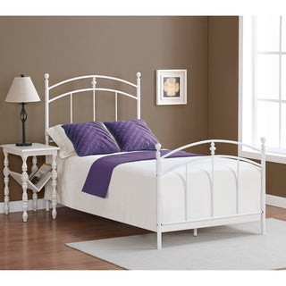 Pogo Twin Size Powdered Sugar Finish Bed Frame
